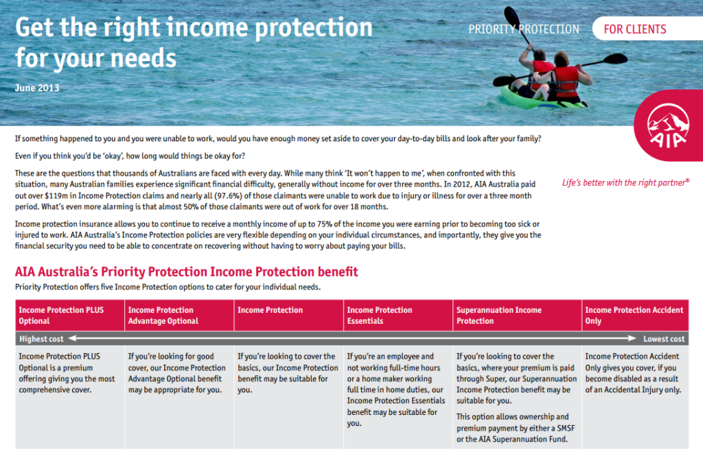 Income Protection AIA